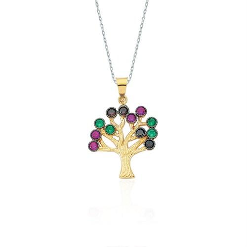 Glorria 14 Ayar Altın Hayat Ağacı Kolye Ucu