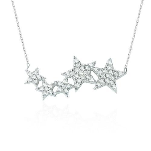 Glorria Gümüş Yıldız Kolye