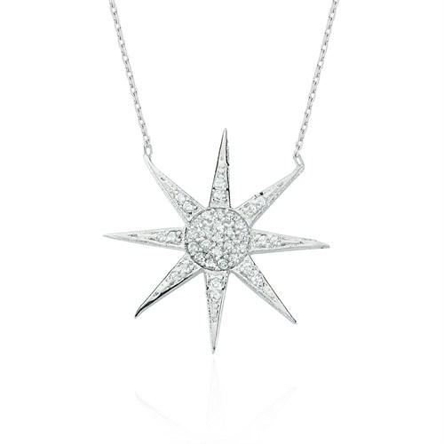 Glorria Gümüş Güneş Kolye