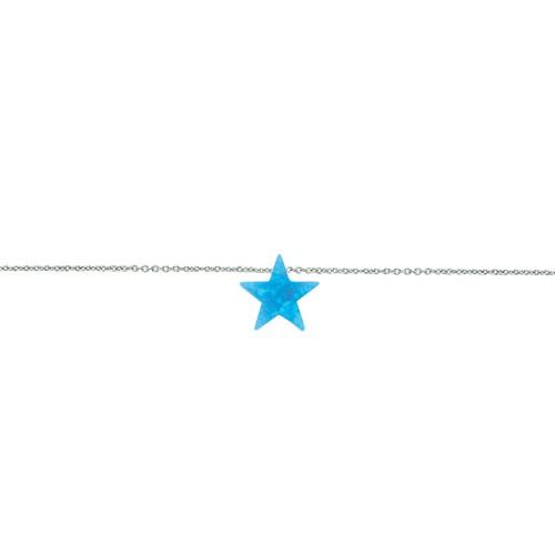 Glorria Gümüş Opal Yıldız Bileklik