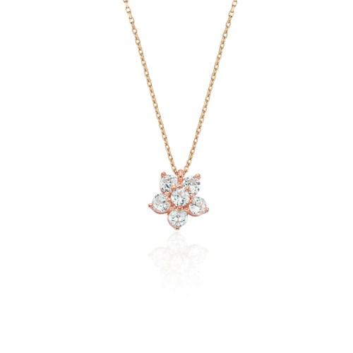 Glorria 925 Ayar Gümüş Çiçek Kolye