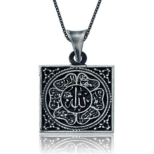 Tekbir Silver Gümüş Allah Yazılı Kolye