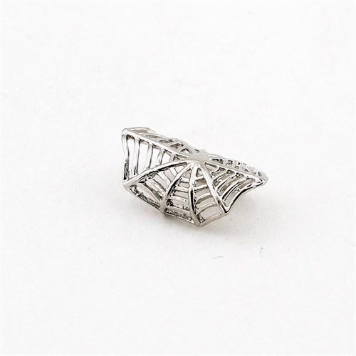 Solfera Kıskaçlı Gümüş Renk Örümcek Ağı Küpe E285