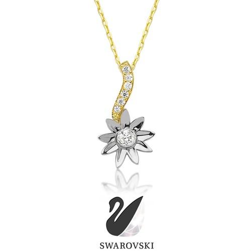 Zirkon Sunflower Kolye