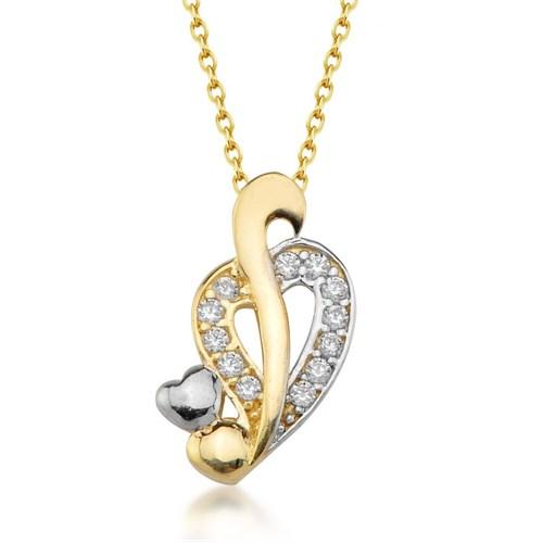 Goldstore 14 Ayar Altın Kalp Kolye Gp38875