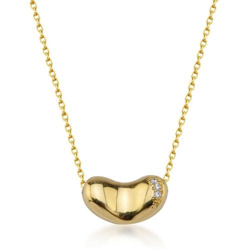Goldstore 14 Ayar Altın Kalp Kolye Gp38887