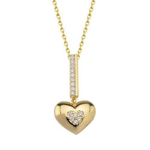 Goldstore 14 Ayar Altın Kalp Kolye Gp38901