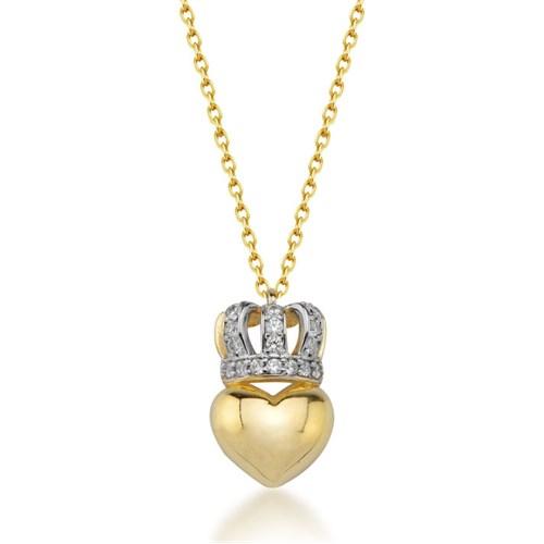 Goldstore 14 Ayar Altın Kalp Kolye Gp38903