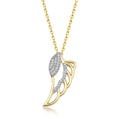 Goldstore 14 Ayar Altın Kanat Kolye Gp39078