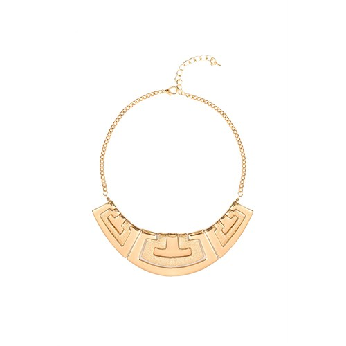 İroni Üç Parçalı Gold Kleopatra Gold Kolye