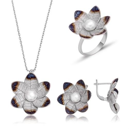 Tekbir Silver Gümüş Nergis Çiçeği Set