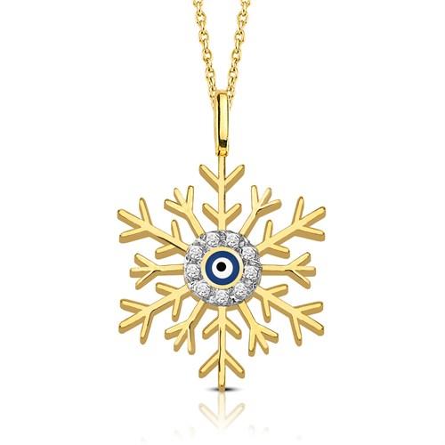 Goldstore Altın, Göz Bebeğim Kartanem, Taşlı Kolye Gp39717
