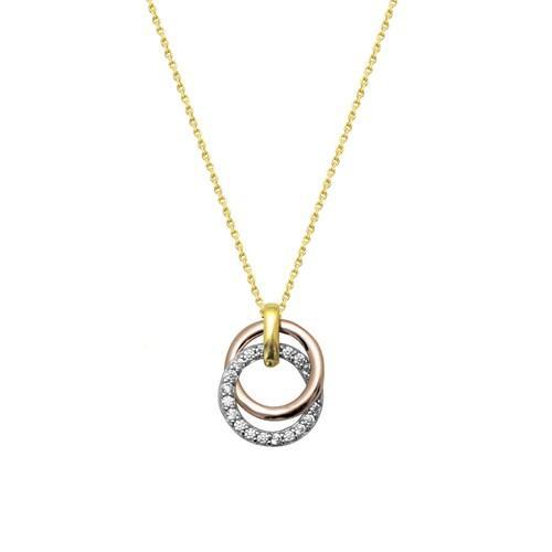 Melis Gold Altın Taşlı Kolye Kly00920