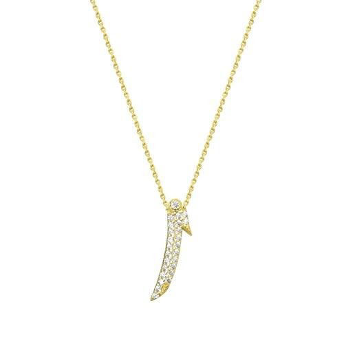 Melis Gold Altın Elif Kolye Kly00924