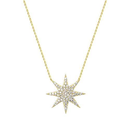Melis Gold Altın Altın Kuzey (Şimal) Yıldız Kolye Kly00933