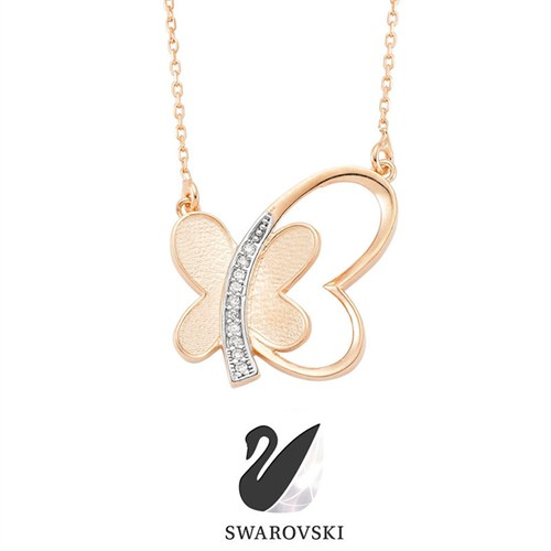 Sheamor Zirkon Butterfly Love Kolye