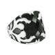 Chavin Siyah Taşlı Gümüş Erkek Yüzük 99631