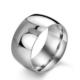 Chavin Söz Nişan Bayan Erkek Parlak Geniş Çelik Yüzük dc84
