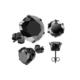 Chavin Unisex Yuvarlak Siyah 3mm Taşlı Çelik Küpe cm24-3