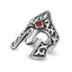 Chavin Miğfer Tasarım Tek Taşlı Gümüş Erkek Yüzük df73
