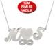 Chavin Gümüş-Rose-Altın 2'li harf isim-isimli kolye ar50