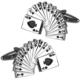 Chavin oyun kartı - poker - çelik kol düğmesi a30
