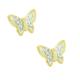 Chavin Altın Kaplama Taşlı Kelebek Çelik Bayan Küpe cg47
