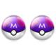 Pokemon Silver Rengi Mavi Küpe dg39