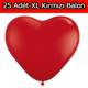 Chavin XXL Sevgiliye Evlilik Teklifi 25 adet Kırmızı Kalp Balon