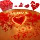 Evlilik Teklifi Gül Yaprağı Mum Balon Paket Sevgiliye Hediye