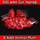 Chavin 500 Adet Gül Yaprağı, Gül Yaprakları, Kırmızı Mum yap1