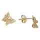 Melis Gold Gümüş Kelebek Küpe Gkp0010