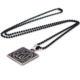Allah C.C. Yazılı Siyah Çelik Erkek Kolye K553