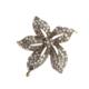 Aşina Gümüş Muhteşem Yüz Yıl Elmas Montür Çiçek Broş Hurrem Harem Serisi