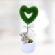 Sevgiliye Hediye Mini Peluş Kalp Ağacı