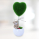 Sevgiliye Hediye Mini Peluş Dolgulu Kalp Ağacı