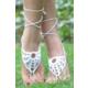 Angelsin Şık Beyaz Ayak Takısı Halhal Ayak Aksesuarı