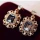 Myfavori Yeni Model Altın Kaplama Kristal Küpe Moda Takı Düğün Gelinlik Küpe Modelleri