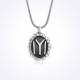 Mina Silver Motifli Iyı Kayı Boyu Diriliş Taşsız Gümüş Erkek Kolye
