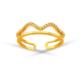 Allegro Gold Dalgalı Yarım Tur AltınYüzük AGT0508