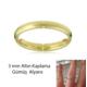 eJOYA Altın Kaplama Gümüş Alyans 3 mm