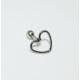 Cadının Dükkanı 316L Cerrahi Çelik Gümüş Rengi Kalp Kulak Piercing