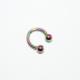 Cadının Dükkanı 316L Cerrahi Çelik Neon Toplu Yarım Ay Kulak - Burun Piercing (Çap 6 Mm)