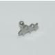Cadının Dükkanı 316L Cerrahi Çelik Gümüş Rengi Üç Yıldız Kulak Piercing