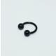 Cadının Dükkanı 316L Cerrahi Çelik Toplu Siyah Yarım Ay Piercing (8 mm)