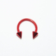 Cadının Dükkanı 316 L Cerrahi Çelik Kırmızı Spike Yarım Ay Piercing (8 mm)