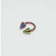 Cadının Dükkanı 316L Cerrahi Çelik Neon Spike Yarım Ay Piercing (6 mm)