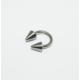 Cadının Dükkanı 316L Cerrahi Çelik Gümüş Rengi Spike Yarım Ay Piercing (6 mm)