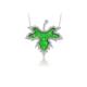 Vaoov 925 Ayar Gümüş Çınar Yaprağı Kolye
