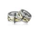Allegro Gold El İşi Gümüş Çift Alyans Ag0016 26